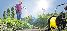 Садовые шланги и приспособления для их хранения